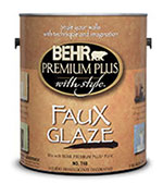 We use Behr Wood Glaze Products