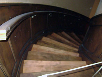 Wood glaze on staircase